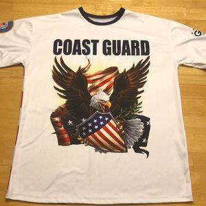Coast Guard USA Patriotic Flag Graphic Shirt XL